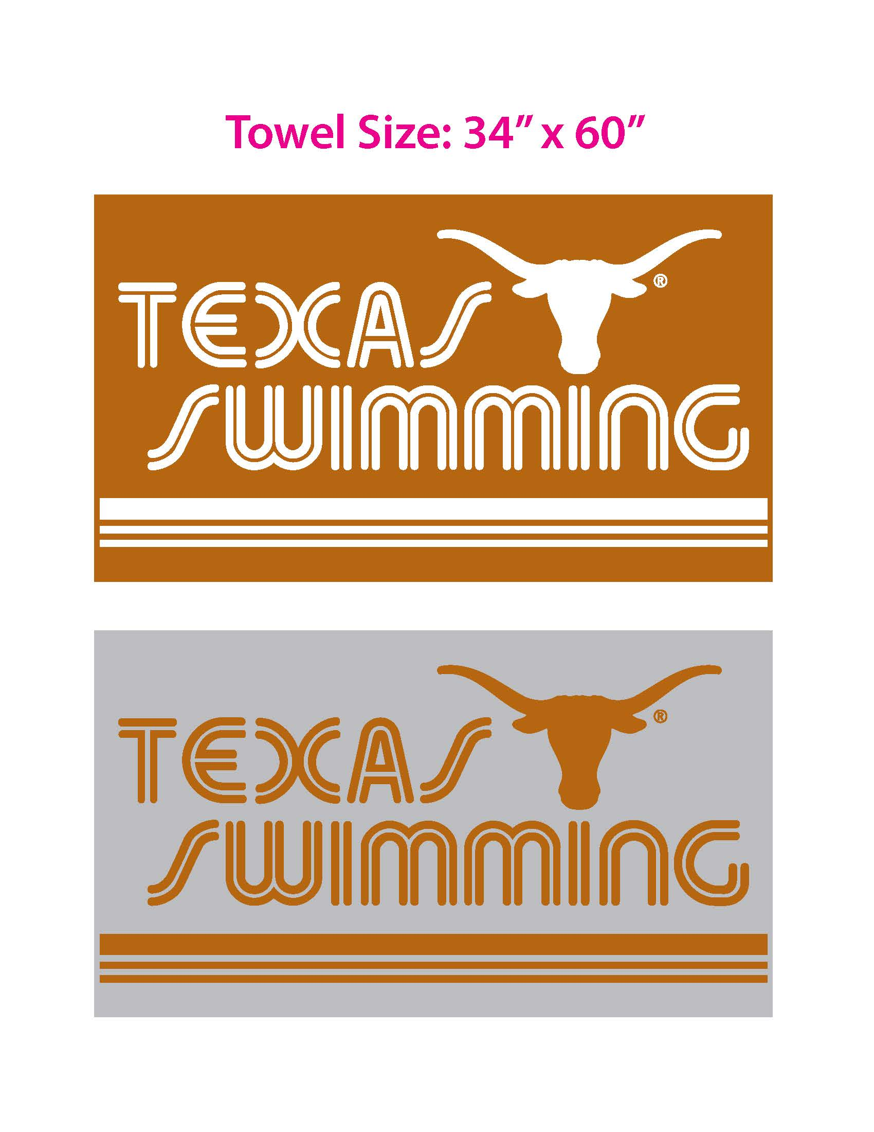 TX Swimming Towels 2019